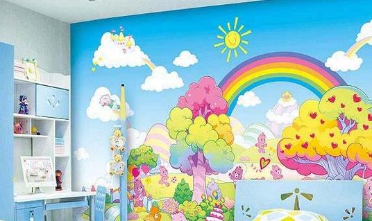 手绘墙所使用的材料是否环保,将直接影响到儿童的身体健康.
