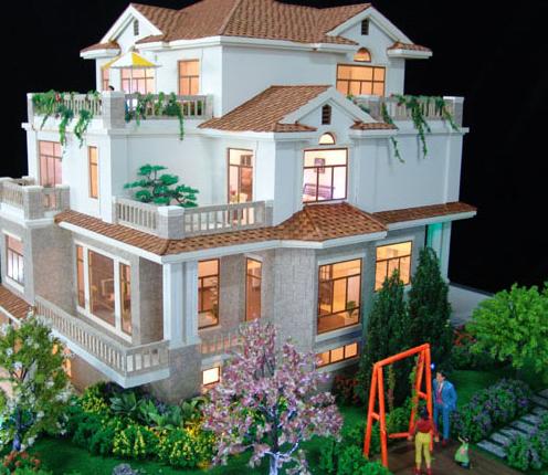 建筑物要建造出来之前,建筑设计师会将图上面的设计制作一个建筑模型图片