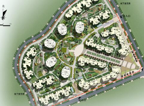 居住小区规划设计说明举例