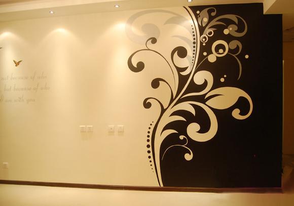室内手绘墙面的风格
