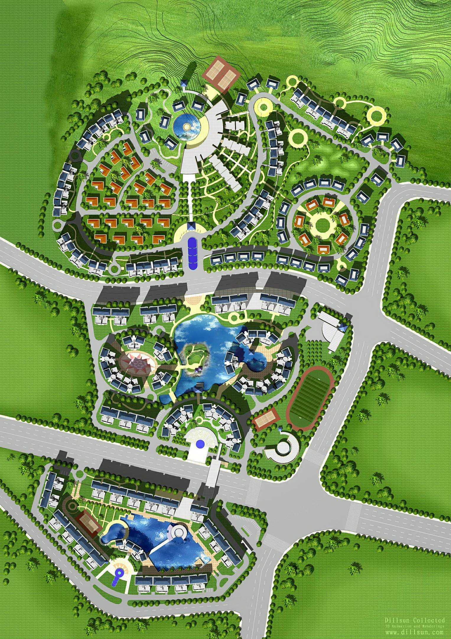 现代化的住宅小区规划设计原则体现的方面图片